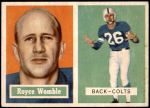 1957 Topps #86  Royce Womble  Front Thumbnail