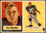 1957 Topps #144  Ken MacAfee  Front Thumbnail