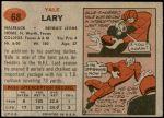 1957 Topps #68  Yale Lary  Back Thumbnail