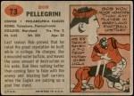 1957 Topps #73  Bob Pellegrini  Back Thumbnail