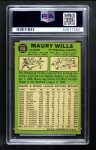 1967 Topps #570  Maury Wills  Back Thumbnail