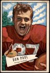 1952 Bowman Large #103  Don Paul  Front Thumbnail
