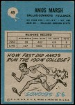 1964 Philadelphia #49  Amos Marsh  Back Thumbnail