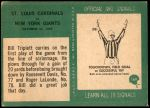 1966 Philadelphia #169   -  Bill Triplett St. Louis Cardinals Back Thumbnail