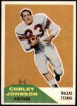1960 Fleer #123  Curley Johnson  Front Thumbnail