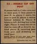 1948 Bowman #23   Double Cut Off Post Back Thumbnail