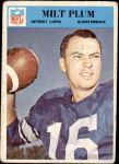 1966 Philadelphia #72  Milt Plum  Front Thumbnail