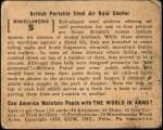 1939 World In Arms #5 M  British Portable Steel Air Raid Shelter Back Thumbnail
