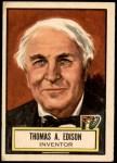 1952 Topps Look 'N See #71  Thomas Edison  Front Thumbnail