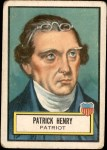 1952 Topps Look 'N See #17  Patrick Henry  Front Thumbnail
