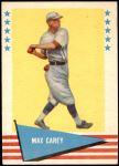 1961 Fleer #12  Max Carey  Front Thumbnail