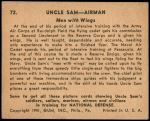 1941 Uncle Sam #72   Men With Wings Back Thumbnail