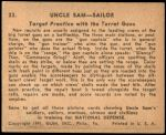 1941 Uncle Sam #23   Target Practice With The Turret Guns Back Thumbnail