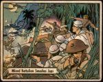 1941 War Gum #47   Mixed Battalion Smashes Japanese Front Thumbnail