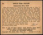 1941 Uncle Sam #56   Submarine Dive Drill Back Thumbnail