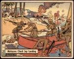 1941 War Gum #26   Malayans Check Japanese Landing Front Thumbnail
