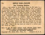 1941 Uncle Sam #13   The Training Station Back Thumbnail
