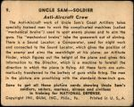 1941 Uncle Sam #9   Anti-Aircraft Crew Back Thumbnail
