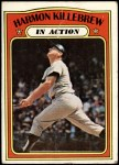 1972 Topps #52   -  Harmon Killebrew In Action Front Thumbnail