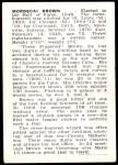 1950 Callahan Hall of Fame  Mordecai Brown  Back Thumbnail