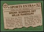 1976 Topps Traded #592 T Willie Randolph  Back Thumbnail