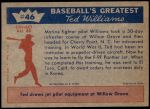 1959 Fleer #46   -  Ted Williams Ready for Combat Back Thumbnail