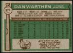 1976 Topps #374  Dan Warthen  Back Thumbnail