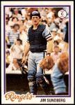 1978 Topps #492  Jim Sundberg  Front Thumbnail