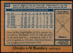 1978 Topps #188  Al Bumbry  Back Thumbnail