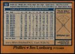 1978 Topps #52  Jim Lonborg  Back Thumbnail