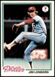 1978 Topps #52  Jim Lonborg  Front Thumbnail