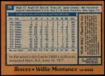 1978 Topps #38  Willie Montanez  Back Thumbnail