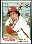 1978 Topps #90  Larry Bowa  Front Thumbnail