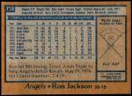 1978 Topps #718  Ron Jackson  Back Thumbnail