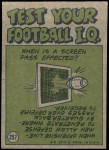 1972 Topps #257   -  L.C. Greenwood Pro Action Back Thumbnail