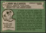 1978 Topps #407  Larry McCarren  Back Thumbnail