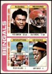 1978 Topps #505   -  Pete Johnson / Billy Brooks / Lemar Parrish / Reggie Williams / Gary Burley Bengals Leaders & Checklist Front Thumbnail