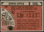 1980 Topps #508  Steve Little  Back Thumbnail