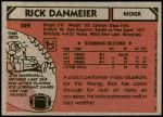 1980 Topps #329  Rick Danmeier  Back Thumbnail
