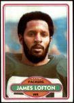1980 Topps #78  James Lofton  Front Thumbnail