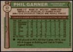 1976 Topps #57  Phil Garner  Back Thumbnail