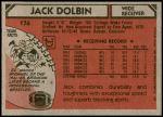 1980 Topps #176  Jack Dolbin  Back Thumbnail