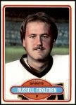 1980 Topps #164  Russell Erxleben  Front Thumbnail