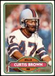 1980 Topps #443  Curtis Brown  Front Thumbnail