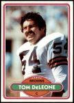 1980 Topps #129  Tom DeLeone  Front Thumbnail