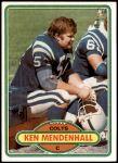 1980 Topps #67  Ken Mendenhall  Front Thumbnail