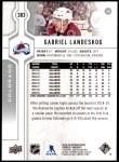 2019 Upper Deck #383  Gabriel Landeskog  Back Thumbnail