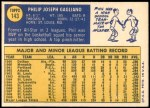 1970 Topps #143  Phil Gagliano  Back Thumbnail
