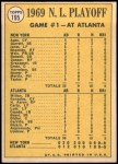 1970 Topps #195   -  Tom Seaver 1969 NL Playoff - Game 1 - Seaver Wins Opener Back Thumbnail