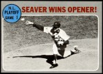 1970 Topps #195   -  Tom Seaver 1969 NL Playoff - Game 1 - Seaver Wins Opener Front Thumbnail